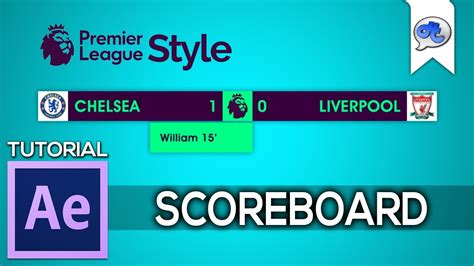 epl scores adobe after effects tutorial 36 scoreboard epl