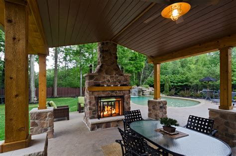 homes with outdoor living spaces pergolas and pavilons traditional patio cleveland