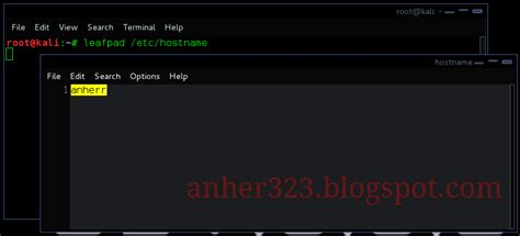 kali linux rolling tutorial cara mengganti hostname kali linux 2 0 kali rolling