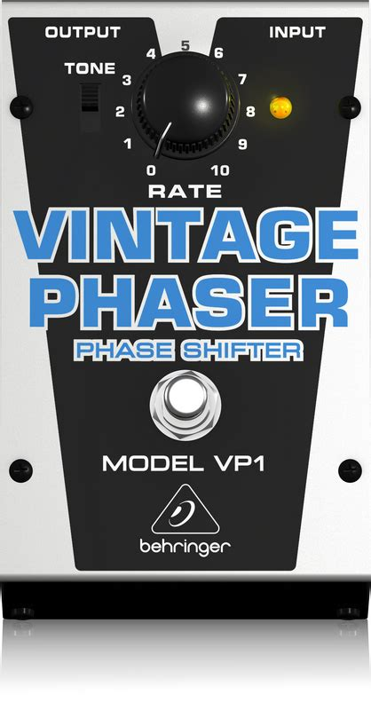 alimentatore con batteria tone behringer vp1 vintage style phase shifter pedale effetto