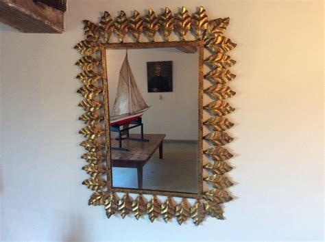 decorative leaf mirror a decorative metal leaf framed mirror 464595