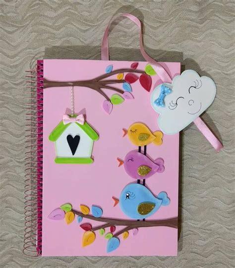 cuadernos decorados de unicornio con foami solountip