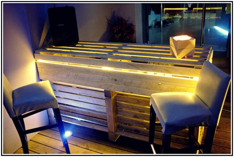banconi bar illuminati riciclo creativo con i pallet 10 idee per i bancali