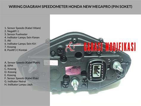 wiring diagram speedometer new megapro child garasi