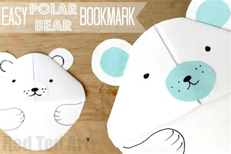 How To Make A Polar Out Of Paper - easy polar bookmark diy ted s