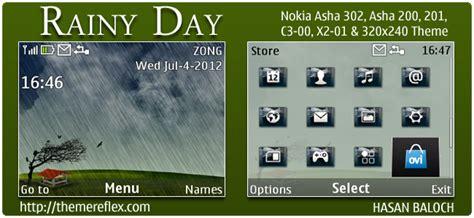 nokia x2 rain themes rainy day theme themereflex