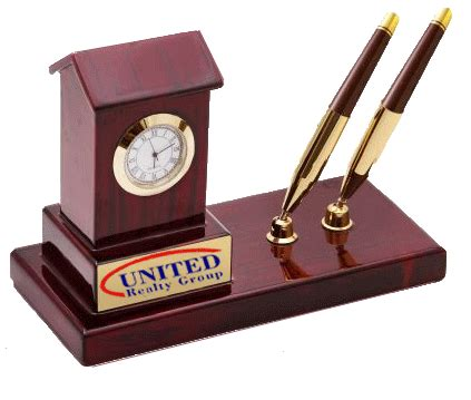 Pen Stand Clock 16034 house shaped clock with pen stand waukn15014 wood arts universe