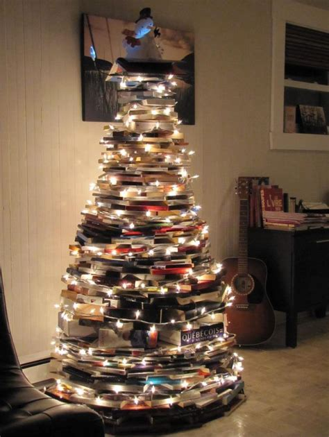 a christmas tree made from books bobbi s blog