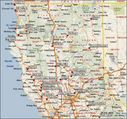 northern california map map of central and northern california california map