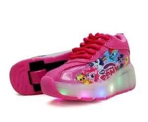 Sepatu Led Anak Led Daldas Garis Biru Pink sepatu roda anak karakter toko bunda