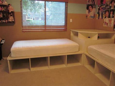 twin beds with corner tween teen 2 twin beds pottery barn corner unit kids