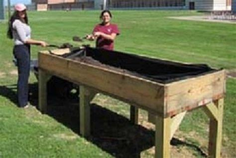 elevated garden beds on legs plans gives exles of new improvements for garden boxes