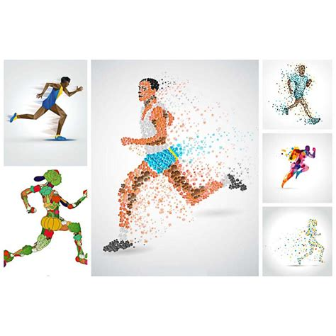 running athlete abstract vector free download