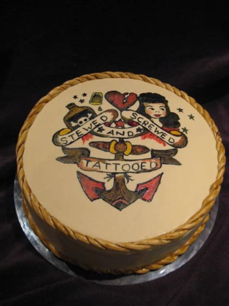 tattoo cake school sailor jerry cake cakecentral