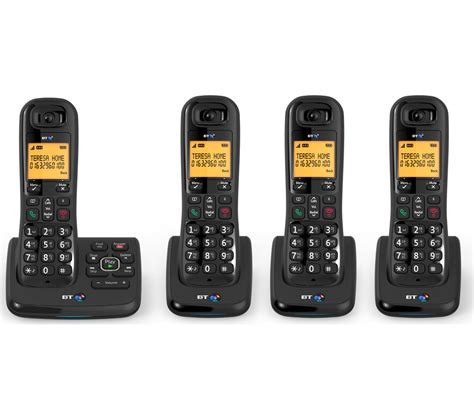 Bt Finder Bt Xd56 Cordless Phone With Answering Machine Handsets House Telephones