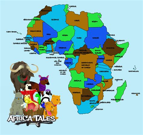 learn the map of africa easily by this maps africatales africatales