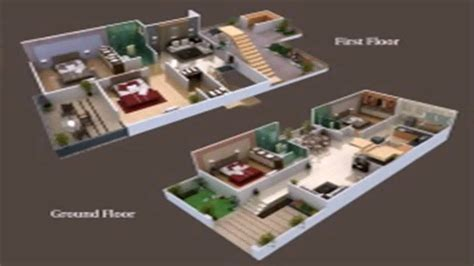 Duplex House Designs by Floor Plans 25 X 50 Youtube