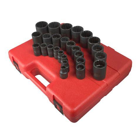 Gp 611 Cr V 12 In 1 Screwdriver Repair Kit Obeng Set gp 1 4 in drive metric magnetic impact socket set 12 gre9712mg the home depot