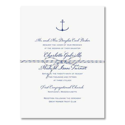 Nautical Wedding Invitations by Nautical Wedding Invitations Paperstyle