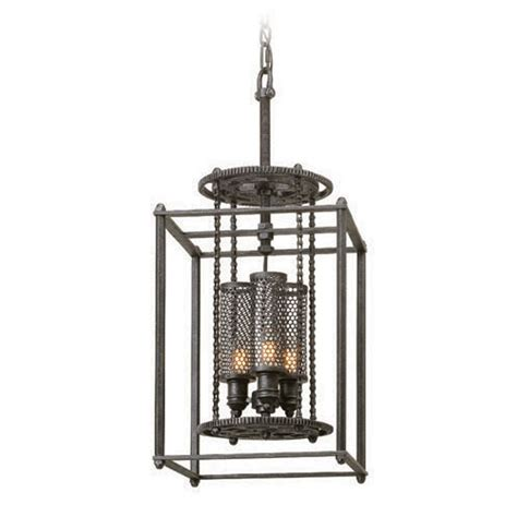 Troy Lighting Fixtures Troy Lighting Atlas Aged Pewter Pendant Light With Cylindrical Shade F3833 Destination Lighting