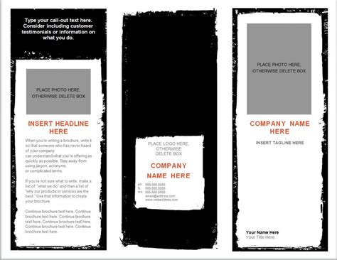 Brochure Template Word Document | word brochure template brochure templates word