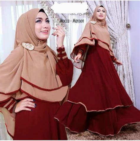 Gamis Murah Lazada Baju Muslim Style Setelan Celana Kulot Model Terbaru