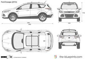 Ford Explorer Dimensions The Blueprints Vector Drawing Ford Escape