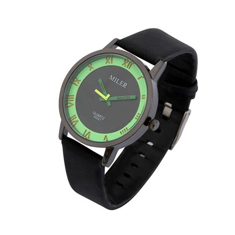 milier  fashion unisex male female leather strap