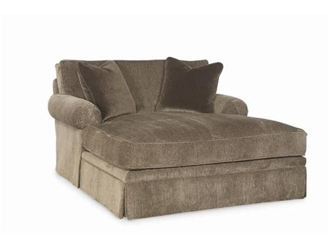 Furniture Brown Fabric Double Chaise Lounge Sofa With Sofa With A Chaise Lounge