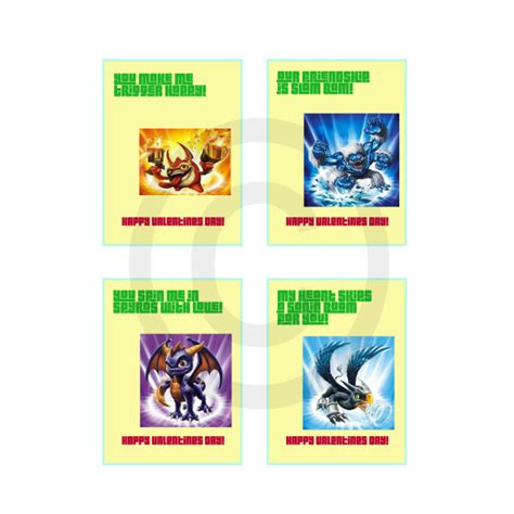 skylanders valentines skylanders valentines day cards 2 for 5 00 valentines