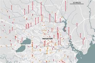 houston louisiana map houston flooding map the effect of harvey on and