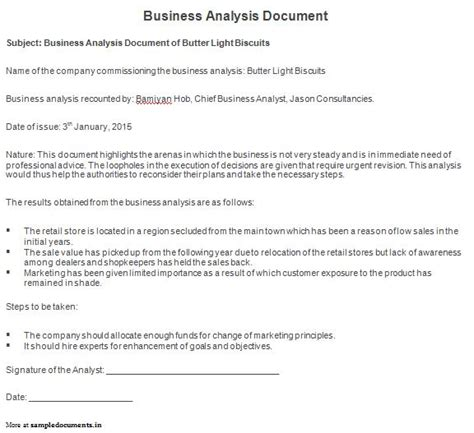 document analysis template business documents templates documents and pdfs