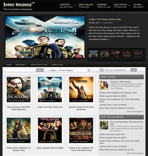 blogger templates for reviews johny bingung a movie review blogger template