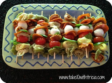 Cold Pasta Salad Ideas by Antipasto Skewers Recipe Dishmaps