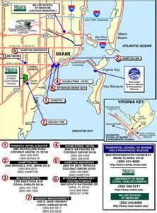 map of miami area florida iai um summer institute 2000 logistic information for