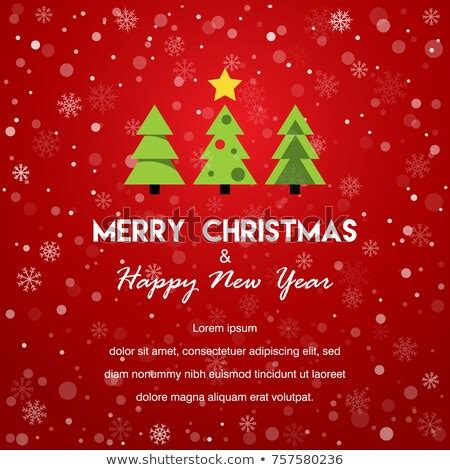 merry christmas happy  year card stock vector  shutterstock