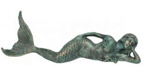 Mermaid Bedroom Ideas 26 quot seaworn cast iron laying mermaid table decoration