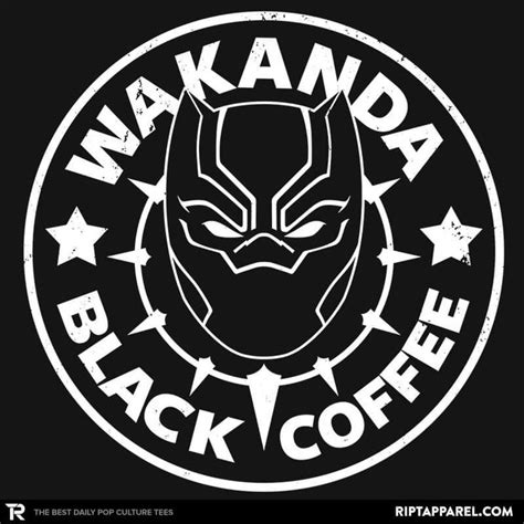 Gildan Wakanda Black Panther wakanda black coffee t shirt black panther black coffee and coffee