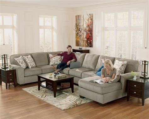 Patina Sectional by Furniture Patola Park Patina 4 Sectional With Right Chaise Olinde S Furniture