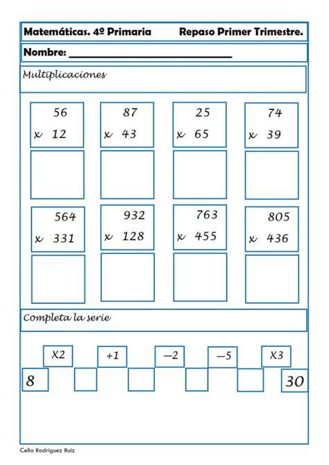 problemas de matematicas para cuarto de primaria gratis bonito matematicas de cuarto de primaria im 225 genes curso