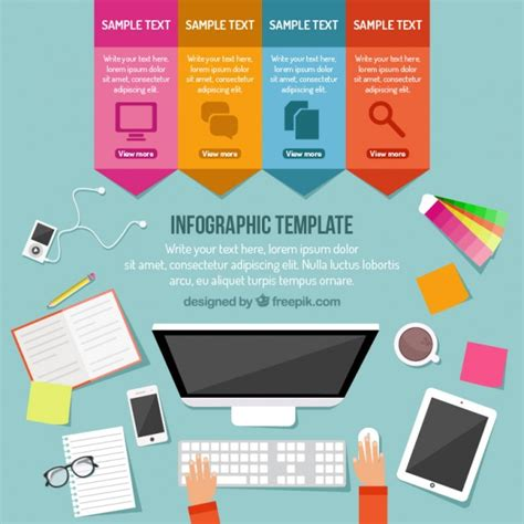 what is a template on a computer infographic computer template vector free