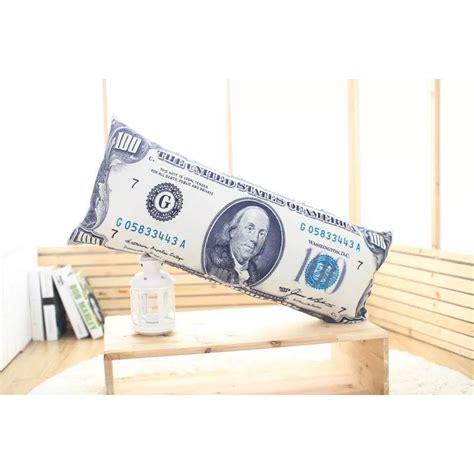 money bed funny us 100 dollar bill money wealth pillow case