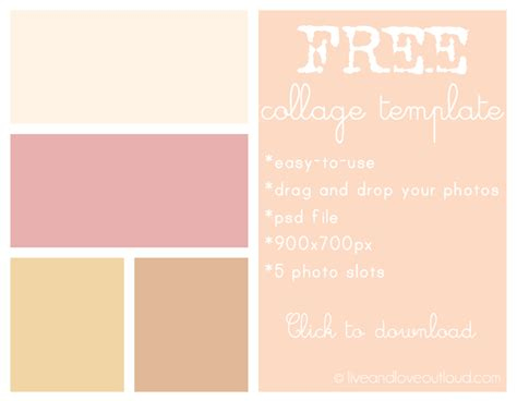 free photo collage template download at live and love out