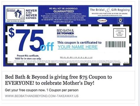Bed And Bath Beyond Coupons by Fact Check 75 Bed Bath Beyond Coupon