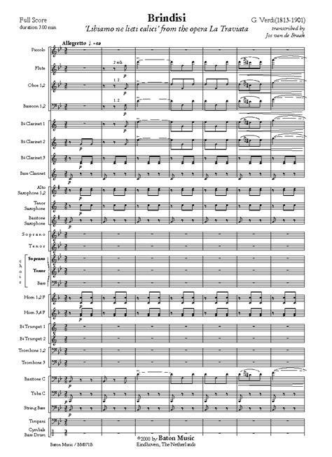 brindisi la traviata musicainfo net details libiamo ne lieti calici brindisi