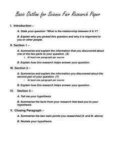 College Research Paper Outline Science by Science Outline Gallery