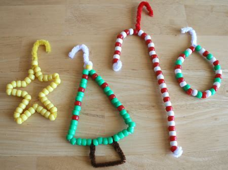 craft bead and pipe cleaner ornaments kparenting