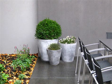 Circular Planters Around Trees by Ian Barker Gardens Featuring In A Mine Style Article