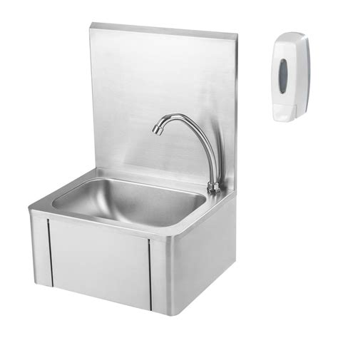 stainless steel hand stainless steel knee operated hand wash basin taps