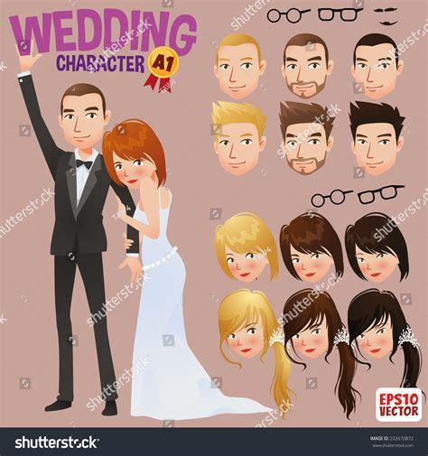 wedding characters wedding character stock vector 232670872